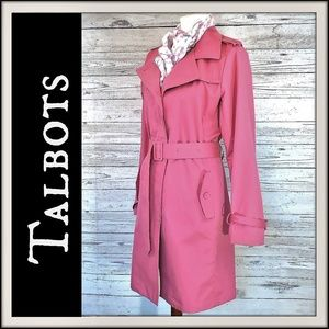⭕ PRETTY IN PINK Talbots Trench Coat